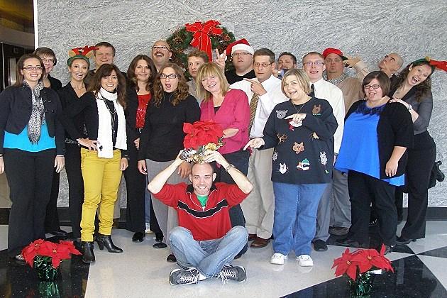Funny KDAT Staff Christmas Photo