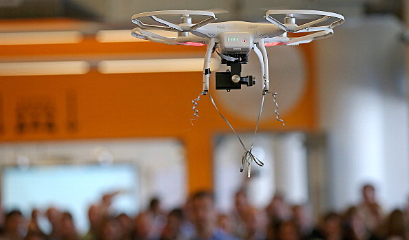Drone Flies In New MassChallenge Office Space