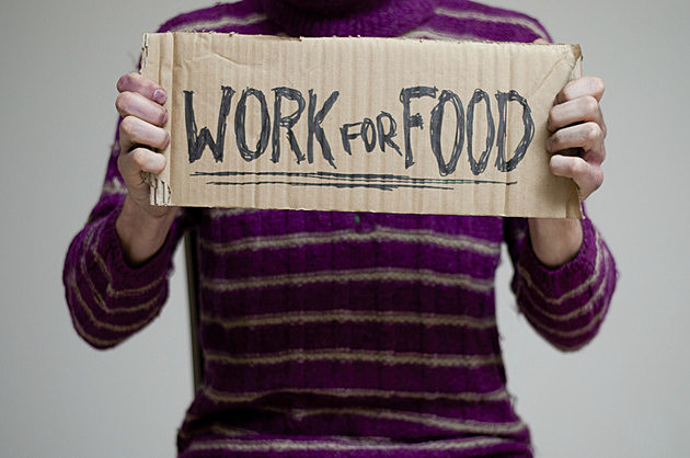 I will work for food